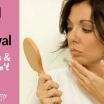 Removing facial hair on women