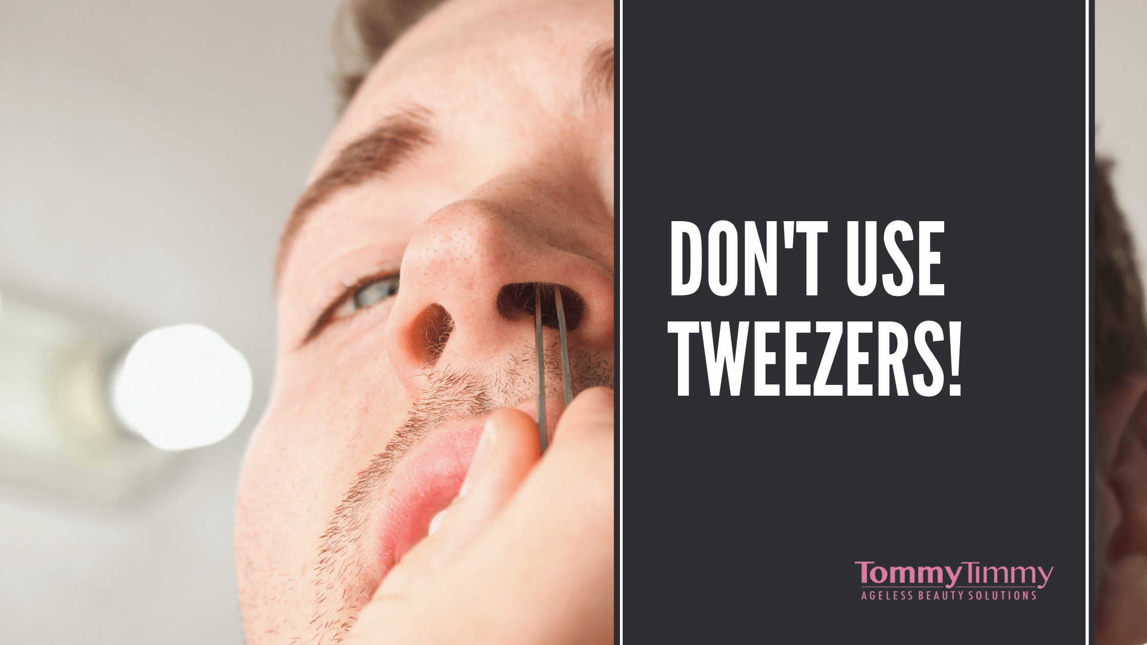 nose hair and tweezers