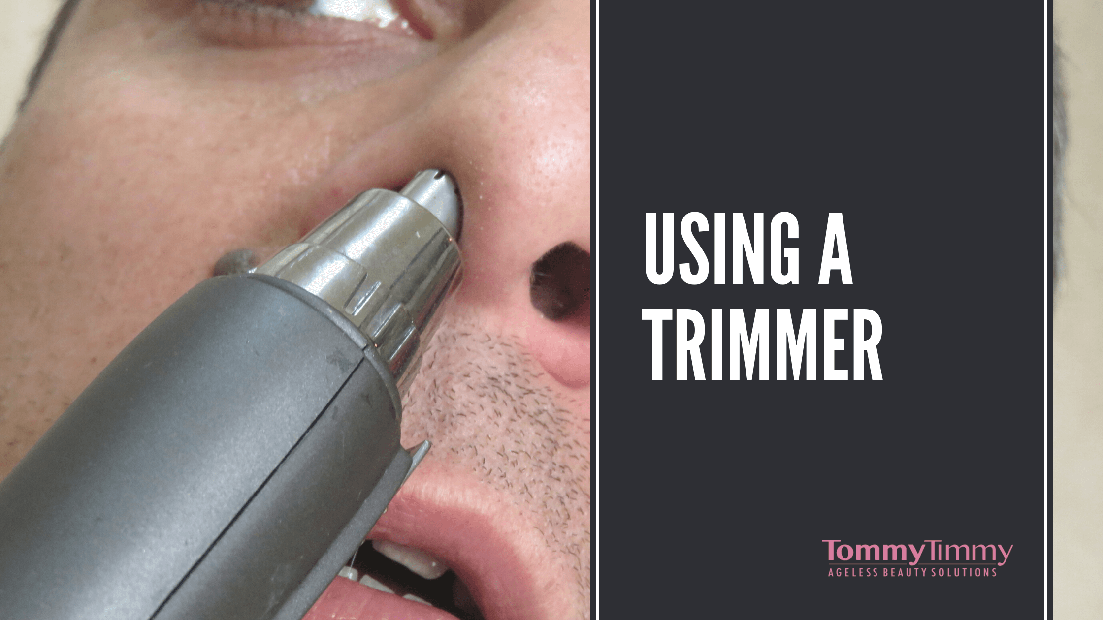 using a trimmer