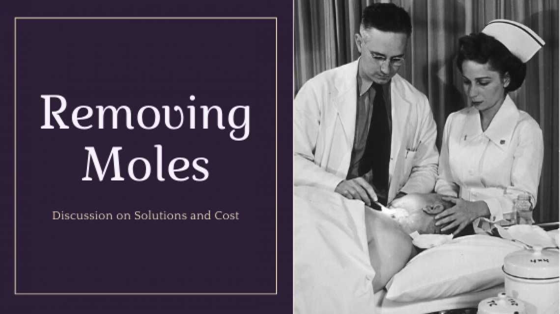 Removing moles