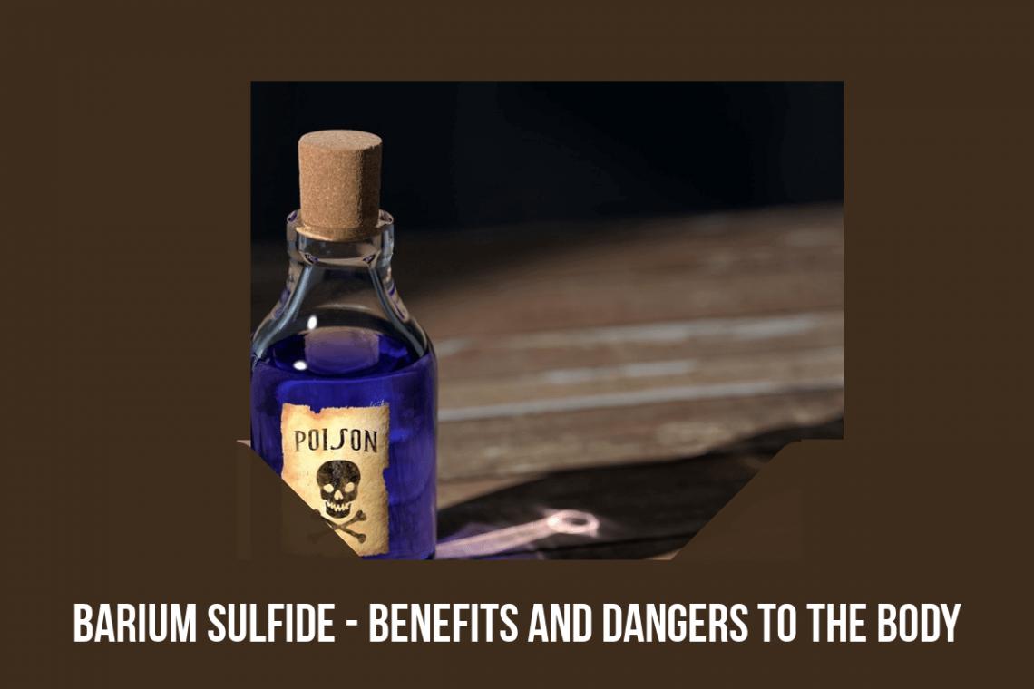 barium sulfide and the body